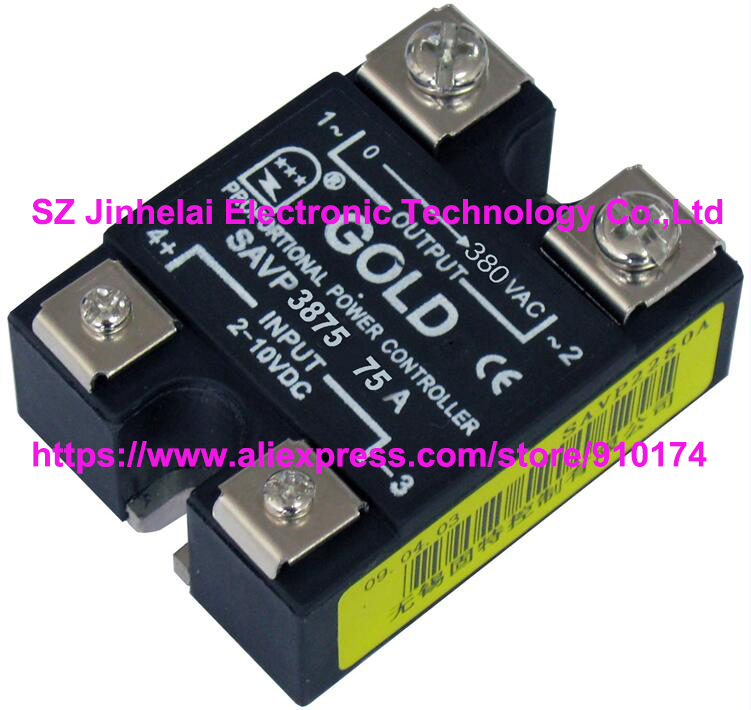 New and original SAVP3875  GOLD Single-phase ac solid state relay  380VAC  75A  2-10VDC OR 4-20mA saimi controlled skd53 12 53a 1200v new original single phase rectifying bridge modules
