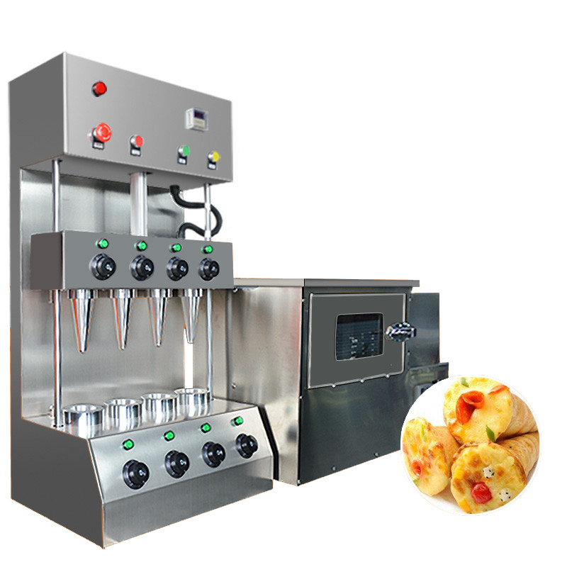 BEIJAMEI stainless steel commercial pizza cone making machine electric pizza oven and pizza cone machine price commercial used easy operation kono pizza cone making machine 2400w umbrella cone pizza 110v 220v stainless steel material