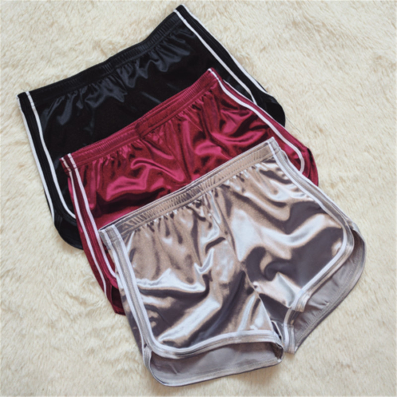 High Waist Sexy   Short   Pants For Women Casual White Satin Striped   Shorts   Hot Pants Black Red Ladies Slim Femmal W3