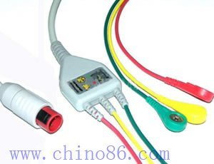 BIONET one piece three lead ECG cable with leadwire, wholesale or retail, OEM, ODM