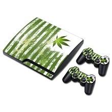Decalque de Vinil Adesivo de pele PS3 Slim Matte Protetora Reutilizável + ervas daninhas para PlayStation 3 slim Console TN-P3Slim-1218