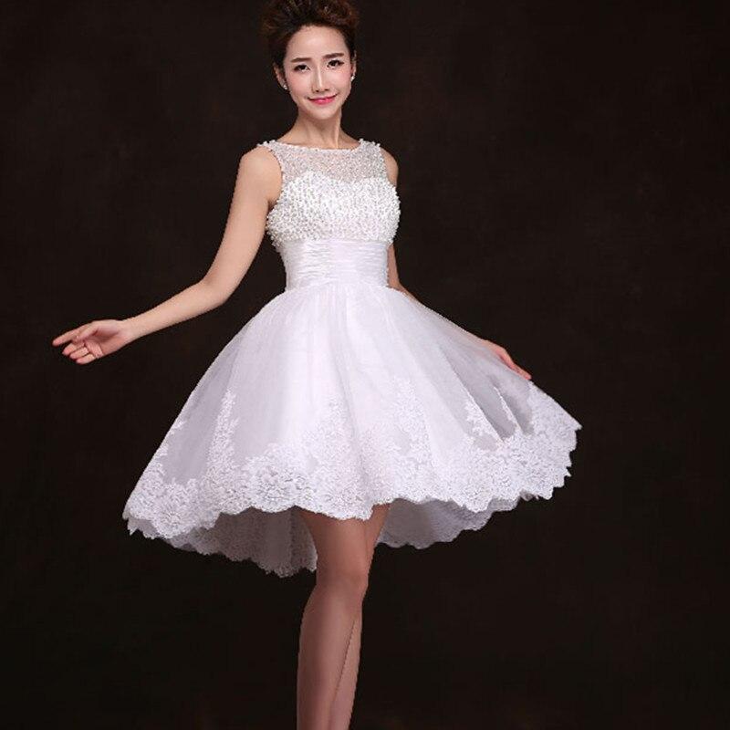Aliexpress.com : Buy New 2017 white short wedding dresses the ...