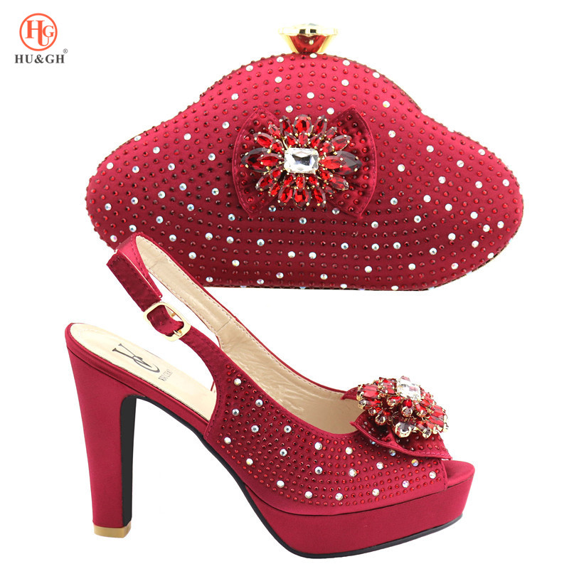 New Italian shoes and bag matching set For Wedding African Wedding Party Fashion 2018 African Shoes