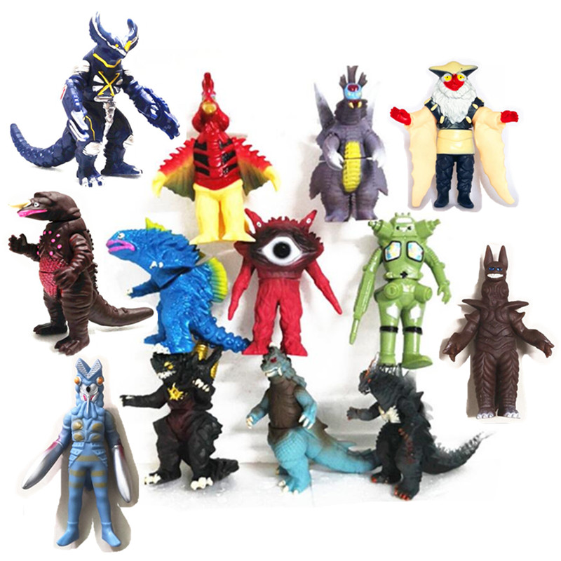 1PC Hot 10 Style Action Figure Collectible Model Toys Boys Kids Child Toys Anime Cartoon Movie Ultraman Monsters Children Gift