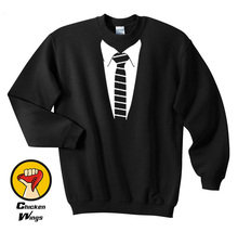 Tuxedo gradua Formal Stripe Tie Fancy Dress Funny Costume Suit Top Crewneck Sweatshirt Unisex More Colors XS - 2XL