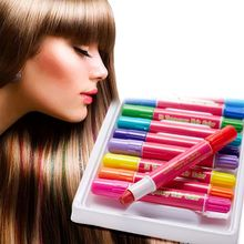 купить Temporary Hair Dye Cream High Quality Fashion Hair Color Cream Non-toxic DIY Hair Dying Pen Crayon Set 12 Colors недорого