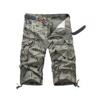 2016 Summer Ffashion Personality Multi Pocket Overalls Camouflage 7 Points Brand Board Shorts Leisure Mens Bermuda