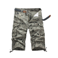 2019 Summer Fashion Personality Multi pocket Overalls Camouflage 7 Points Board Shorts Leisure Mens Bermuda Shorts