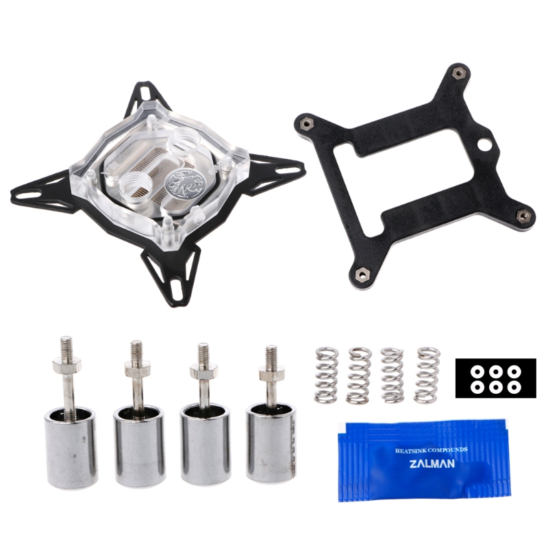 G1/4 Base Inner Channel PC Water Cooling Block For Intel 775/1150/1155/1156 CPU