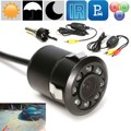 Brand New Waterproof 8 LED Night Vision Car Reversing Rearview Parking Camera With Drill