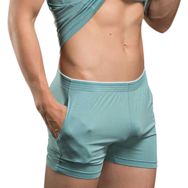 Men's Solid Color Cashal Modal Shorts Soft Comfortable Home Pajamas Male Enjoy Life Horts Slowly