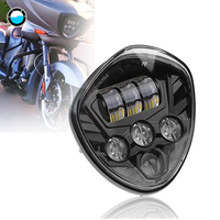 60W Motorcycle LED Headlight Black Hi Lo Beam Polaris for Victory Cross Country Motorcycle Headlights Assembly .