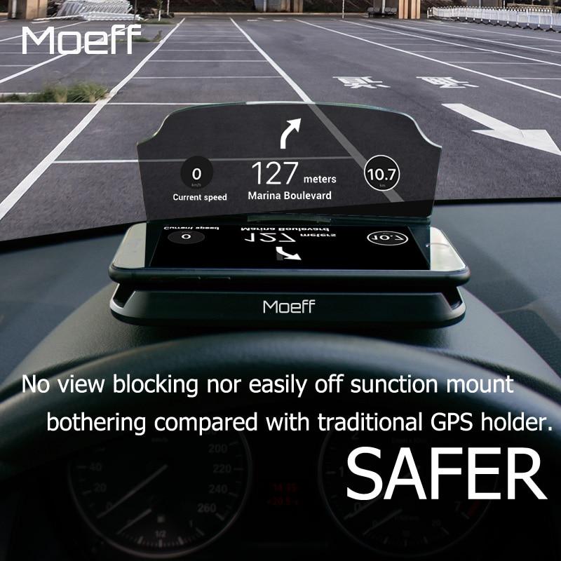 Moeff Универсальный HUD автомобильный держатель телефона стенд мобильный Поддержка Сотовая связь телефон крепление для Iphone 5 6 7 8 x плюс Samsung S6 <font><b>S8</b></font> &#8230;