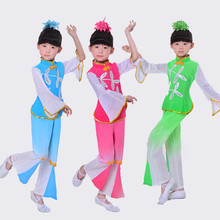 New style childrens classical dance clothing  costumes girls costume fan performance