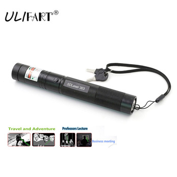 ULIFART 100Pcs/Lot High Powered Burning Laser Pointer Safety Green Laser 303 With Starry Heads