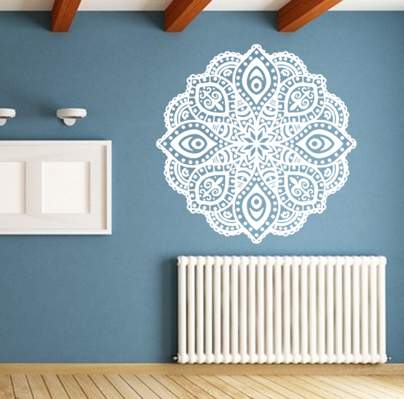 Aliexpress.com : Buy Buddhist Art Wall Stickers India Mandala Stickers  Removable Waterproof Home Decoration Living Room Decal Art Mural 6 Colors  Each From ... Part 72