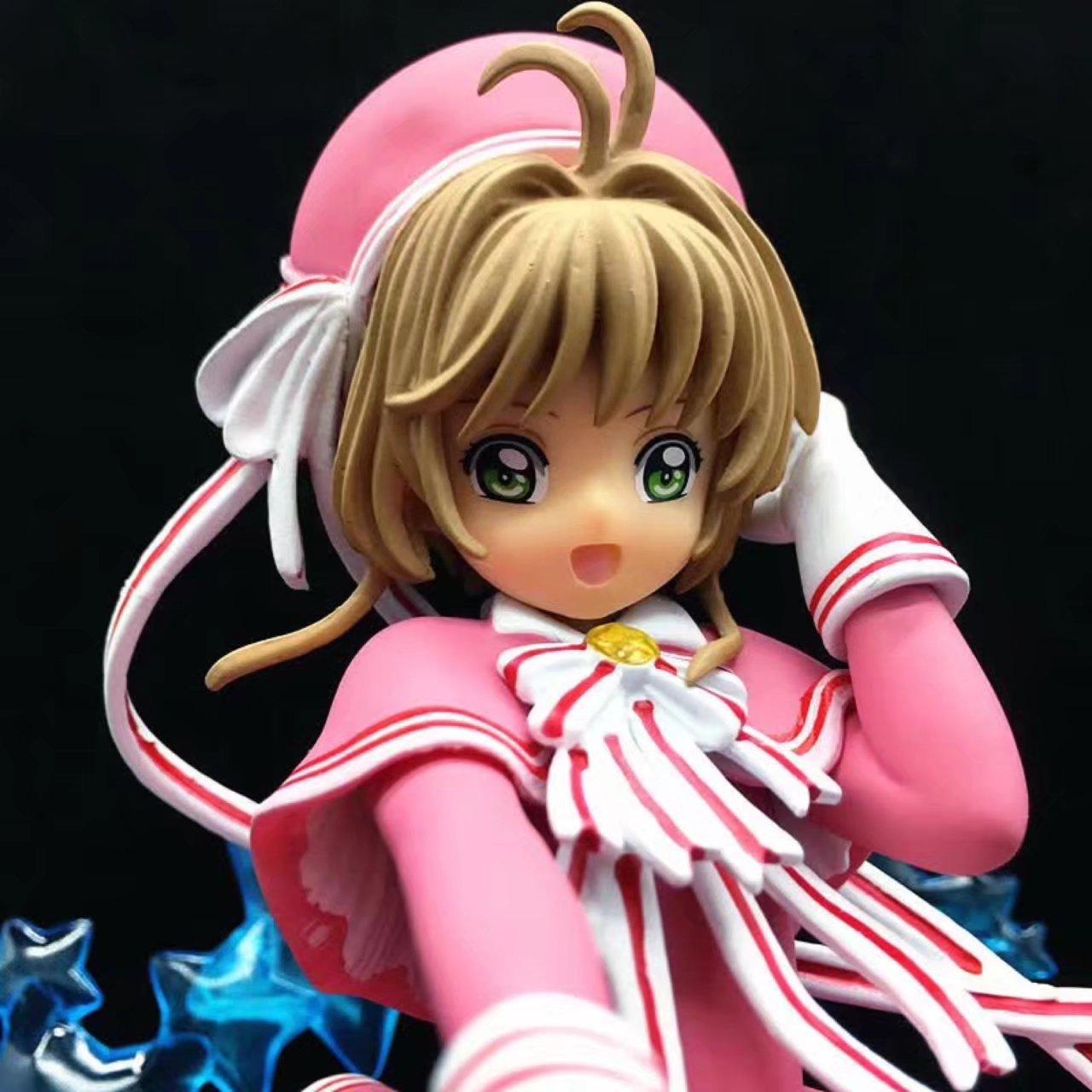 19cm Card Captor Sakura Action Figures Pink Dress Toys