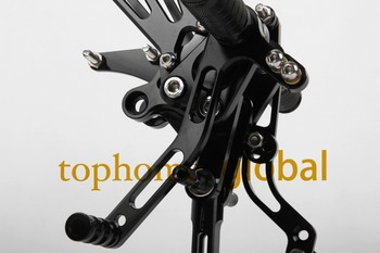 For Benelli BJ600GS 2010 2011 2012 2013 Black CNC Rearsets Foot Pegs Rear Set