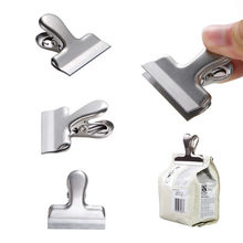ISHOWTIENDA Food Storage Stainless Steel Chip Bag Clips 2/3/4 Inch Width Durable Portable New Kitchen Storage Food Bag Clips(China)
