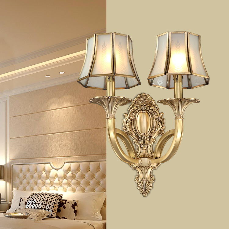 New Arrival Hot Luxurious European Style Copper Wall Lamp