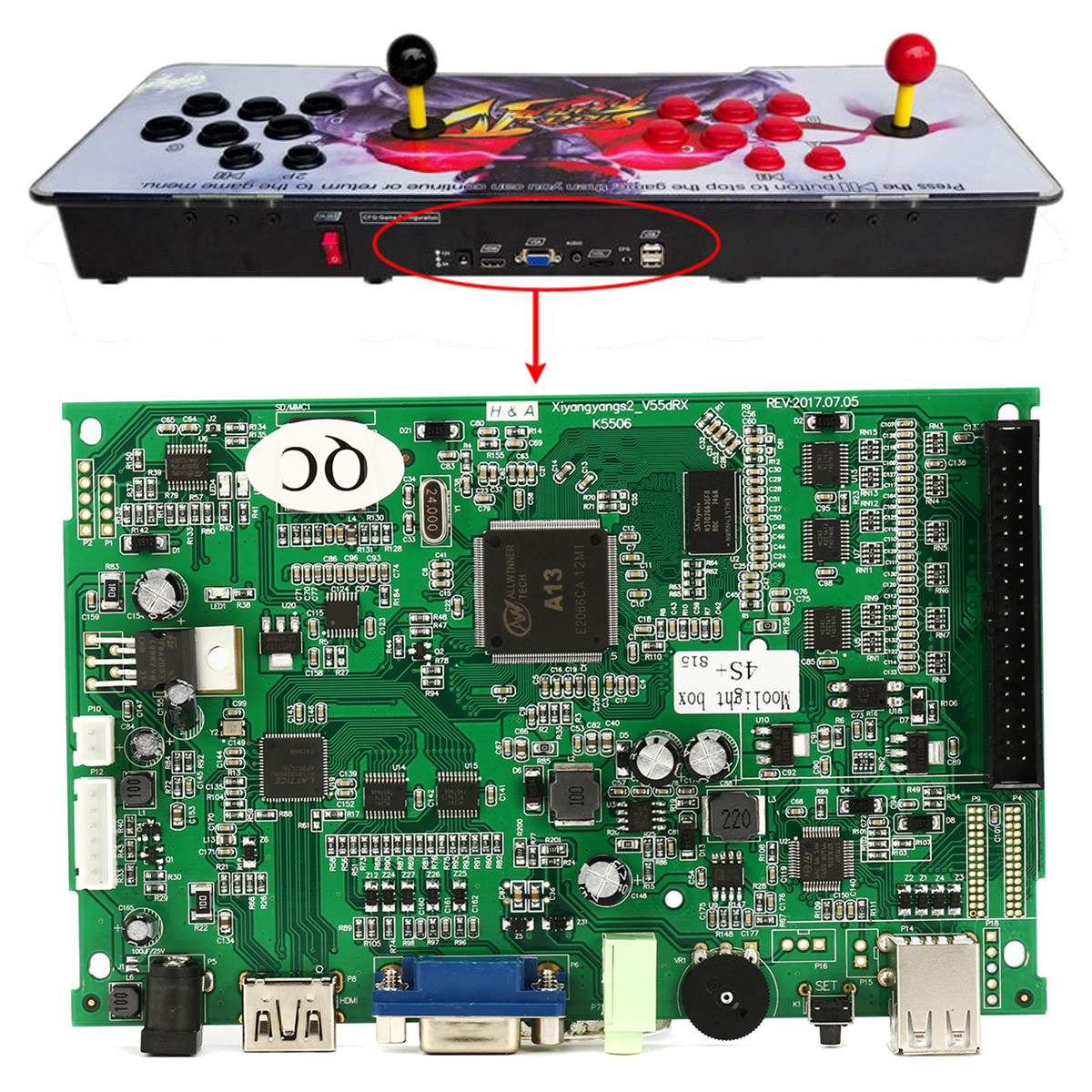 Boîte de jeu 4/5 S 815/1314 en 1 MAME Jamma VGA Pandoras armoire Machine carte mère pièces Console Multi Arcade carte PCB cartouche