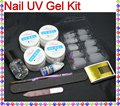 EM--132 Pro Acrylic UV Gel French Nail Art False Tip DIY Kit Set
