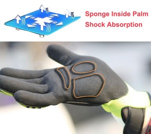 Image 4 - Cut Resistant Safety Work Glove Anti Vibration Anti Impact Oil proof Protective With Nitrile Dipped Palm Glove for Working