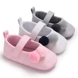 Летняя обувь для маленьких девочек, маленькие свежие туфли с помпоном для девочек, обувь принцессы для малышей, обувь для малышей, три
