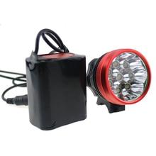 9T6 15000LM водонепроницаемый света фары 3 режима 9 * нью-cree XM-L T6 велоспорт фонарик + 8800 мАч 18650 + зарядное устройство