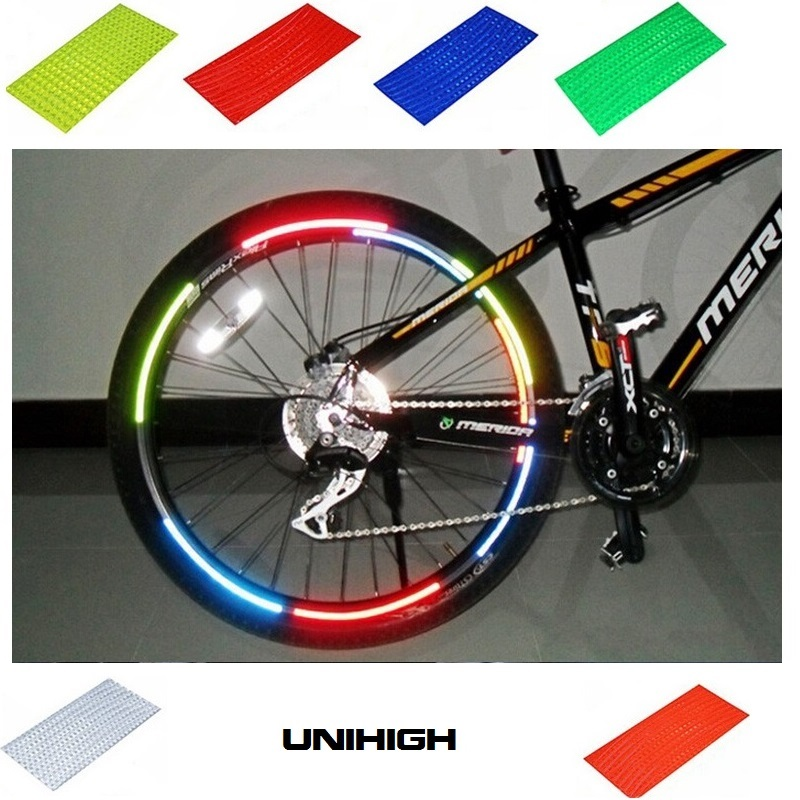 Bicycle Bike Bicycle Reflector MTB Cycling Bicycle Rim Reflective Stickers Decal