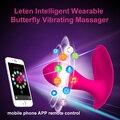 Leten Подключения Bluetooth Интеллектуальный App Дистанционного Управления Носимых Бабочка Вибратор G-Spot Клитора Вибратор Секс Игрушки Для женщин