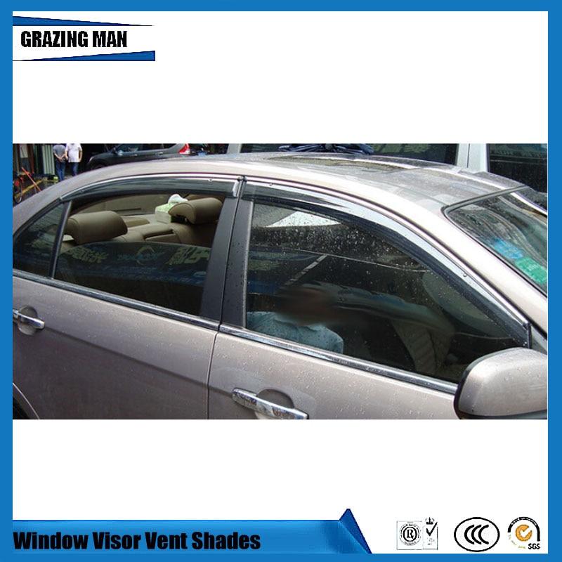 Sun visor Car accessories Window Visor Vent Shades Sun Rain Deflector Guard 4PCS/SET for EpicaSun visor Car accessories Window Visor Vent Shades Sun Rain Deflector Guard 4PCS/SET for Epica