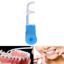 30 м нейлоновая зубная нить с держателем, профессиональная Бытовая Чистящая зубная нить для чистки зубов, инструмент для ухода за полостью рта, чистящее средство для ухода за зубами, зубная нить