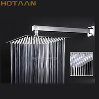 12 inch shower head with arm 300*300 stainless steel head shower with shower arm top water saving rain shower Chuveiro YT 5129