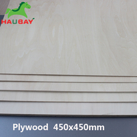 HAUBAY Basswood Plywood 450x450x1.5/2/3mm Basswood Plywood Wide Sheets Crafting Wooden for Festival Fabulous February Sale
