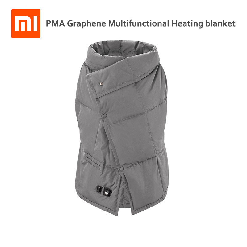 Xiaomi PMA Графен многофункциональный отопление одеяло моющиеся теплый жилет свет пояс Быстрая теплые Нескользящие ожогов для женщин для офиса...