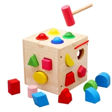 GEEK KING 3D Montessori Wooden disassembly toy shape cognitive pairing toys for children educational building blocks