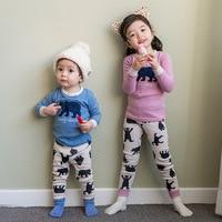 1 Sets Children S Baby Clothing Casual Sleepwear Cute Bear Home Wear Suits Boy Girl Fall
