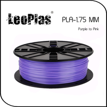 Worldwide Fast Delivery 3D Printer Material 1kg 2.2lb 1.75mm Temperature Sensitive Purple to Pink PLA Filament