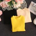 2017 trend kids child clothing baby girls knitted sweaters blend fabric boy tops cardigan knitwear Solid