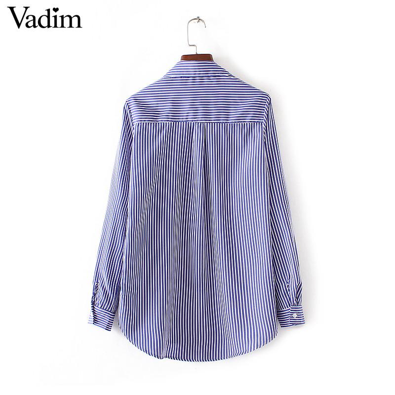 HTB1Uhf7NFXXXXa9XpXXq6xXFXXX0 - Women floral dragonfly embroidery full cotton striped blouse long shirt