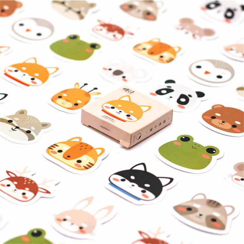 40 sztuk rodzina z lasu naklejki naklejki ze zwierzętami naklejki prezenty dla dzieci do laptopa walizka gitara lodówka rower samochodowy