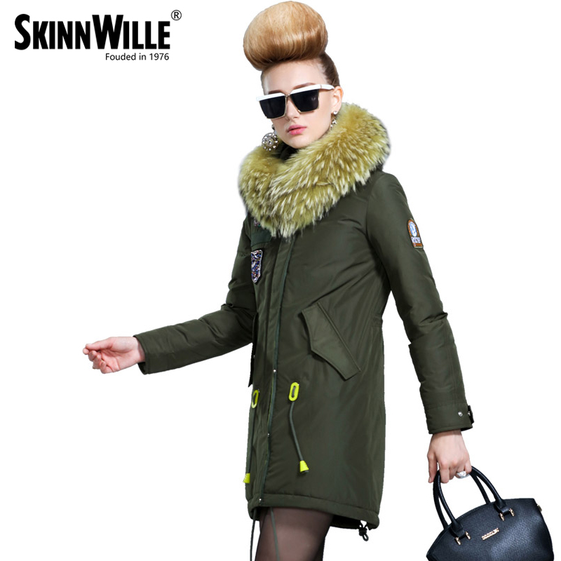 SKINNWILLE 2017 new products down jacket in winter More female in long White duck down even