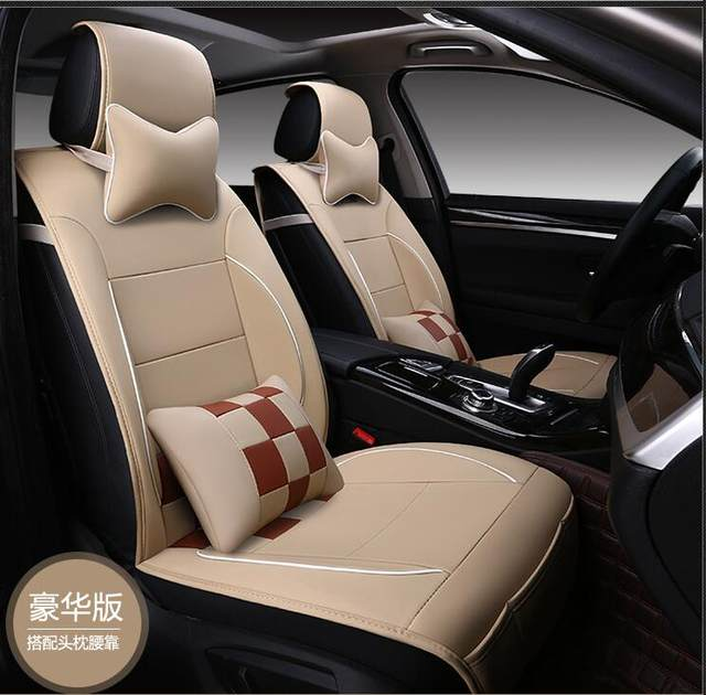 Luxury Leather PU Car Seat Covers 5 Protection Cover For Chevy Avalanche Colorado Equinox CK Pickup Silverado