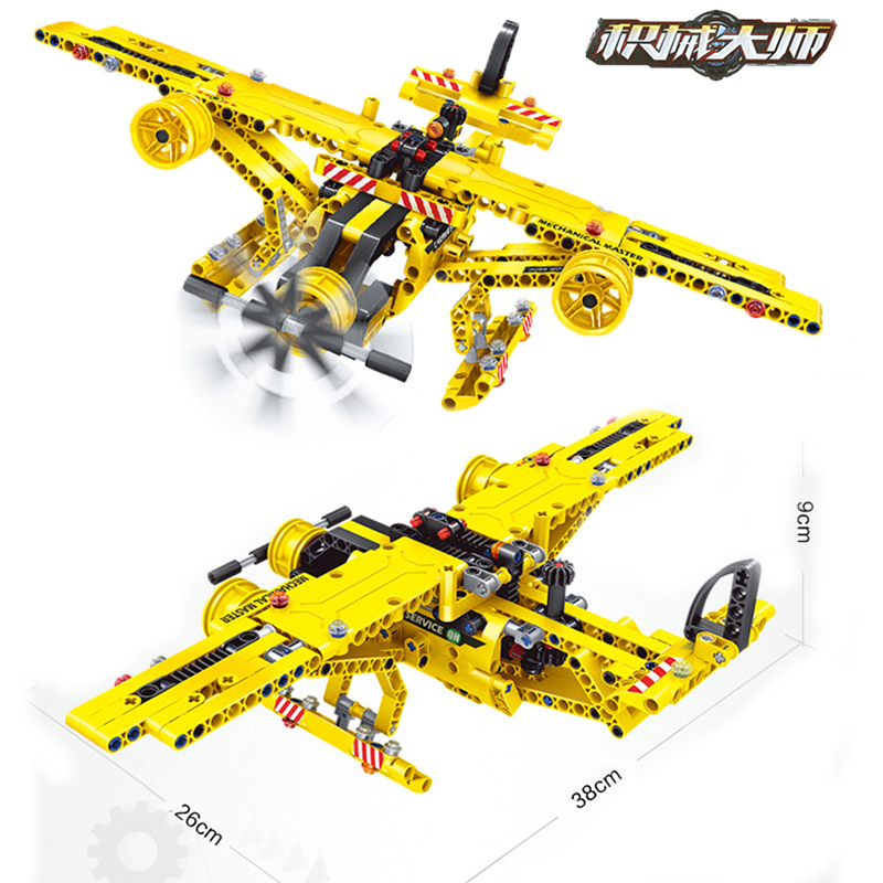 Technic Series 2 in 1 Construction Truck Airplane City Kits Model Building Block Toys For Children Gift 1