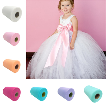 Wholesale White Organza Tulle Roll Spool 15cm 100 Yards Tulle For