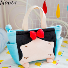 Nooer 32*25CM Beauty Girl Cartoon Princess Series Girl Woman Plush Backpack Toy Cute Plush Lunch Bag For Children Free Shipping