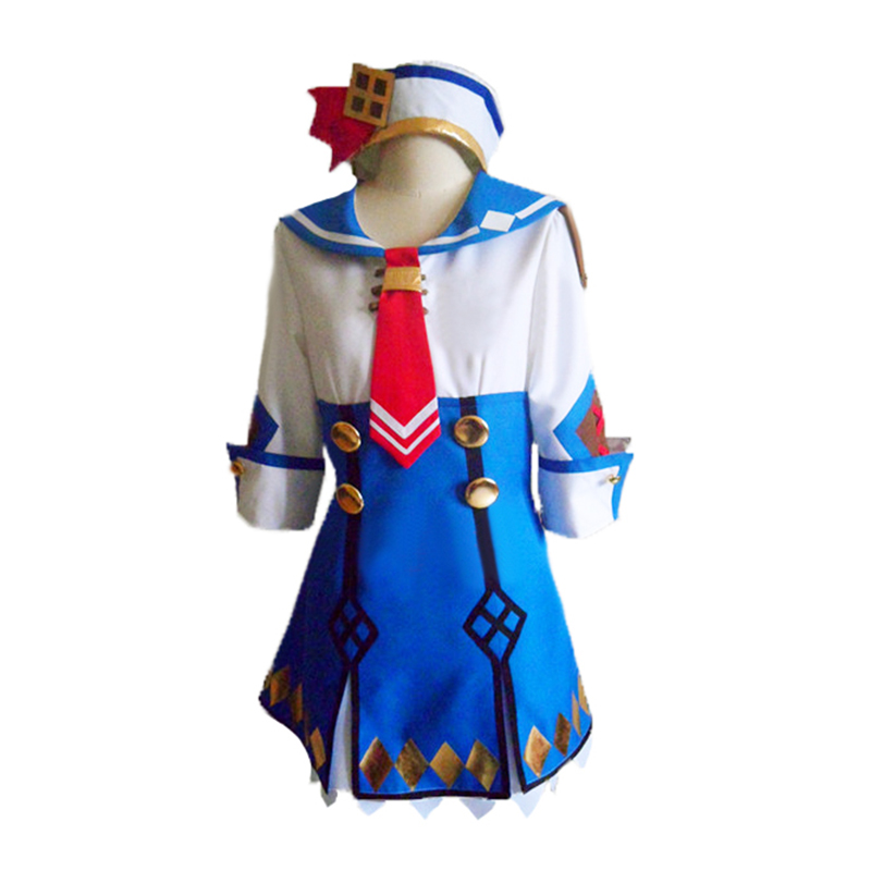 Monster Hunter Casey Kanban Musume Cosplay Costume with socks custom any size