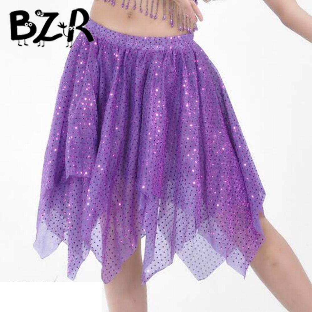 2db7a695b Faldas cortas de danza del vientre para mujer, Falda de baile del vientre  con lentejuelas, falda de Paillette para niños, trajes de baile latino