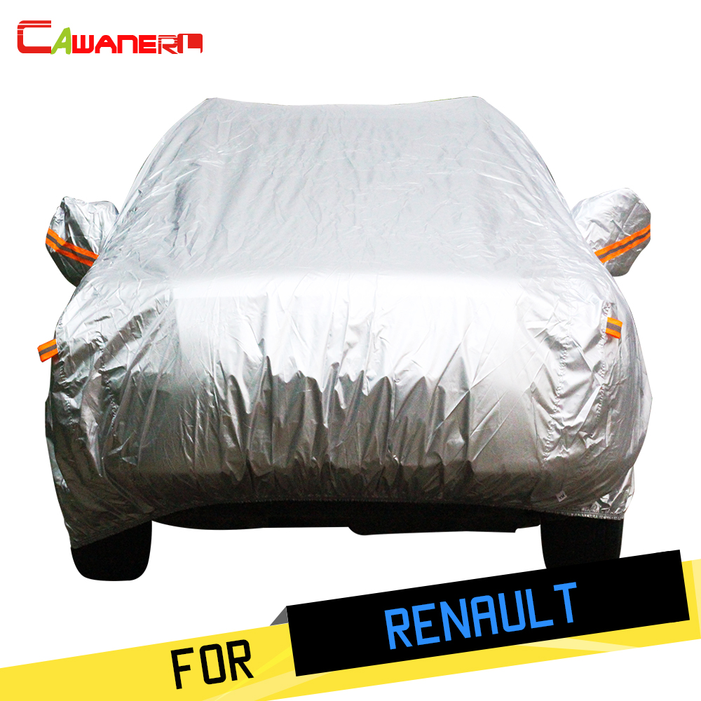 Cawanerl Car Cover Outdoor Sun Anti UV Rain Snow Protector Cover Waterproof For Renault Vel Satis